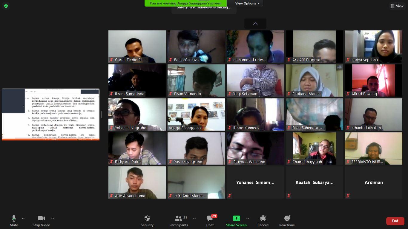 Ahli K3 Umum Online Training Yogyakarta